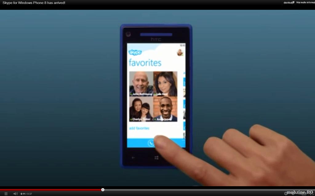 Video: demo de Skype pe Windows Phone 8