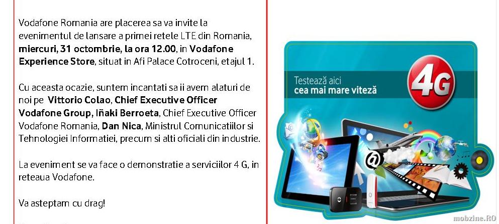 LTE în România din 31 octombrie și iPhone 5 din 2 noiembrie