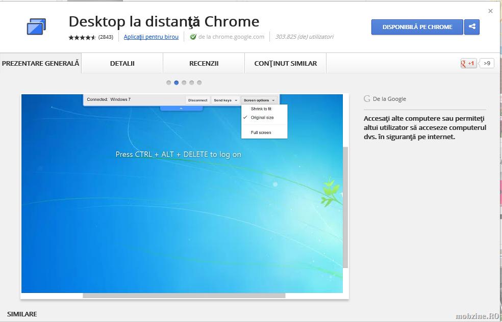 Chrome Remote Desktop: controlezi PC-ul din orice browser Chrome