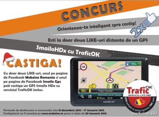 UPDATE: câştigătorul GPS-ului SmailoHDx cu TraficOK din concursul Mobzine Romania este …