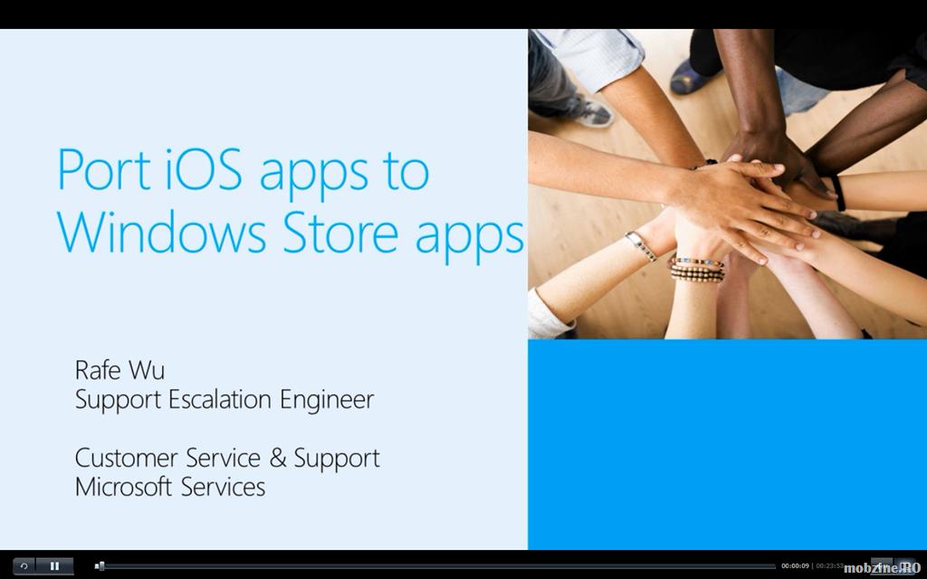 Video: curs de portare a aplicațiilor iOS pe platforma mobilă Windows