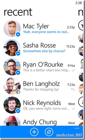 Facebook Messenger for Windows Phone 8