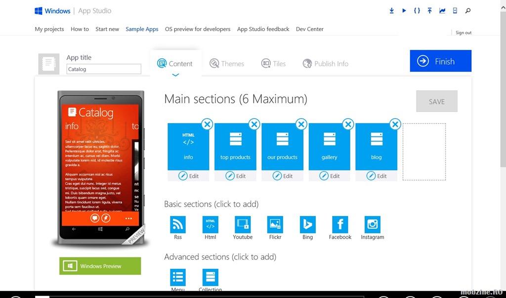 Windows App Studio primeste integrarea Instagram si optiuni