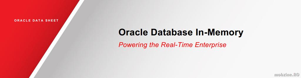 Oracle Database In-Memory: business in timp real cu Oracle Database 12c
