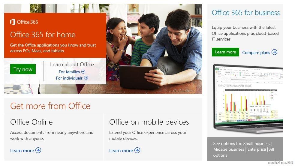 Microsoft va oferi trei noi abonamente Office 365 pentru zona SMB