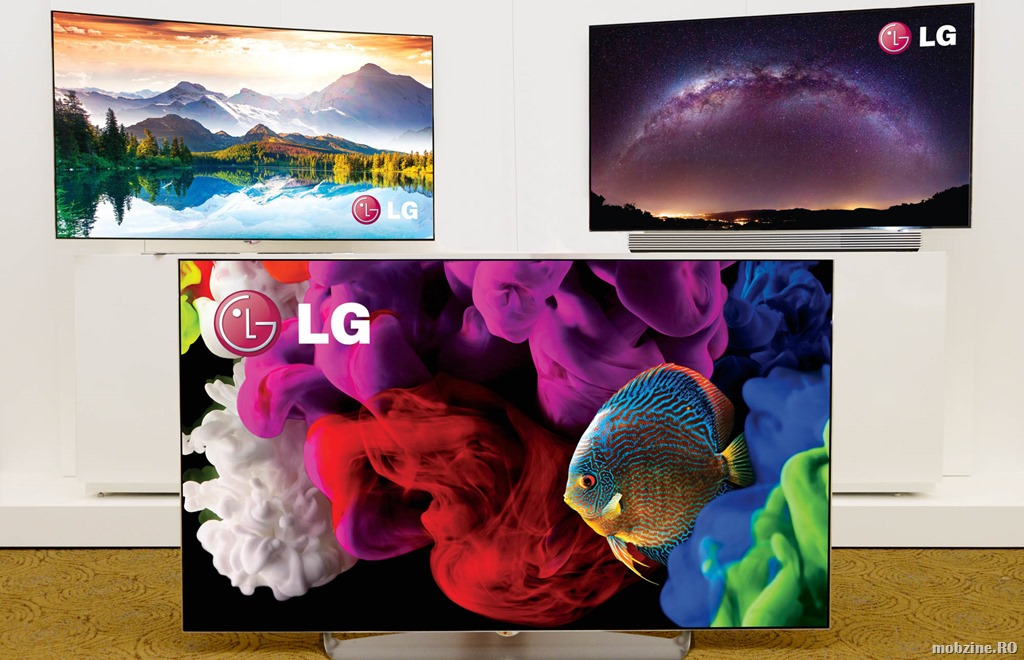 LG prezinta gama de televizoare OLED 2015 cu ecran curbat