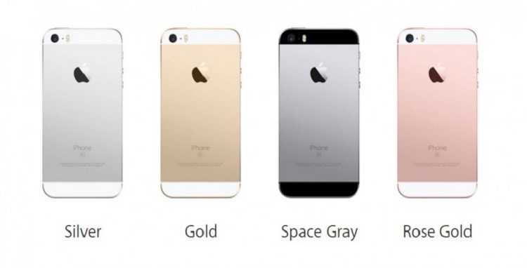 iphoneSE colours