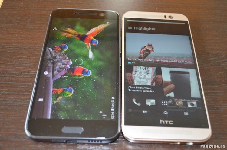 Comparatie HTC 10 vs HTC One M9 cu poze side by side si specificatii tehnice