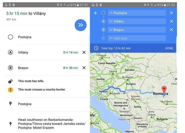 Google Maps cu puncte intermediare poate fi folosit si in Romania. Vedeti cum!