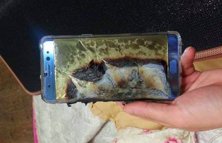 note 7 melted