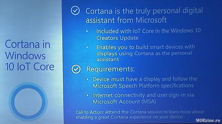 Cortana on Windows 10 IoT