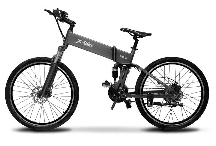 Evolio intra pe piata de bicicletele electrice si prezinta doua modele: X-bike si X-bike mini