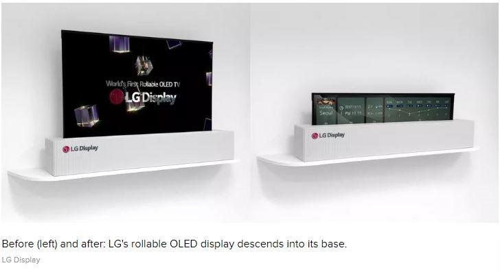 Asta e televizorul viitorului: LG OLED 4K de 65 de inci, care se impatureste