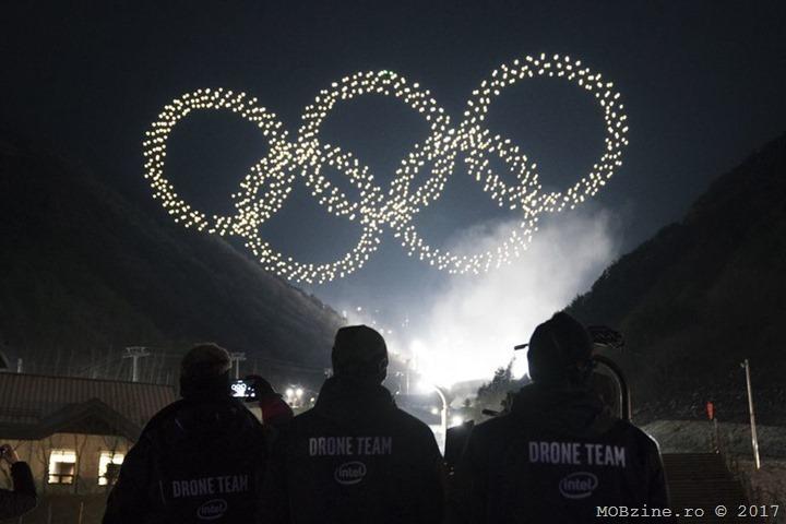 Spectacol cu peste 1200 de drone oferit de Intel la deschiderea Jocurilor Olimpice de iarna