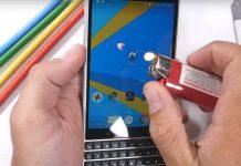teste de rezistenta pentru BlackBerry KEY2