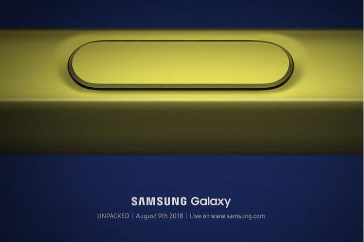 live lansarea Samsung Galaxy Note 9