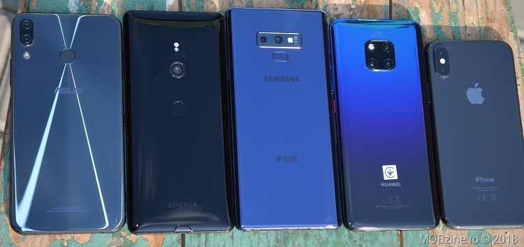 Asus Zenfone 5z vs Sony Xperia XZ3 vs Samsung Galaxy Note9 vs Huawei Mate 20 Pro vs iPhone Xs
