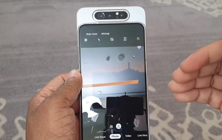 Galaxy A80 slider video