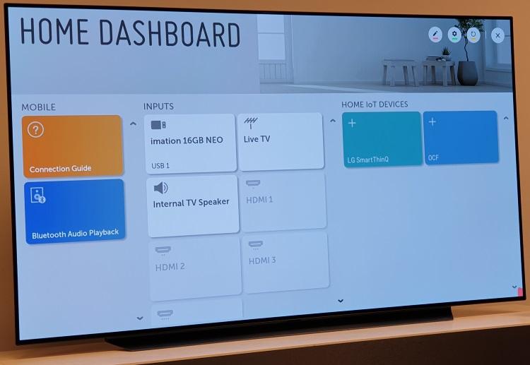 ași Home Dashboard de pe seria de televizoare OLED este prezent și pe LG SM9800 NanoCell.
