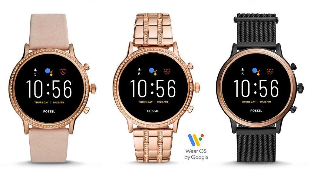 Câteva din modele de smart watch Fossil Gen 5 cu Wear OS.