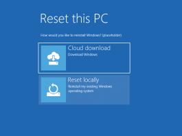 Windows 10 Insider Preview 18970 (20H1) aduce posibilitatea de restaurare a Windows-ului folosind Cloud download.