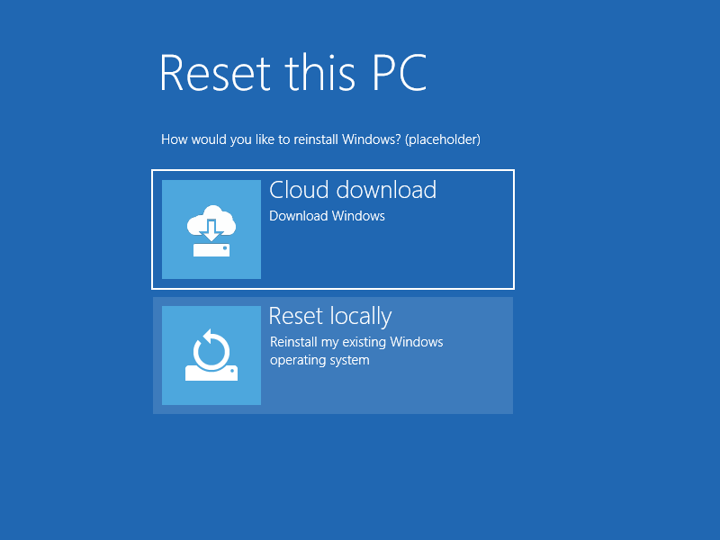 Windows 10 Insider Preview 18970 (20H1) aduce posibilitatea de restaurare a Windows-ului folosind Cloud download.