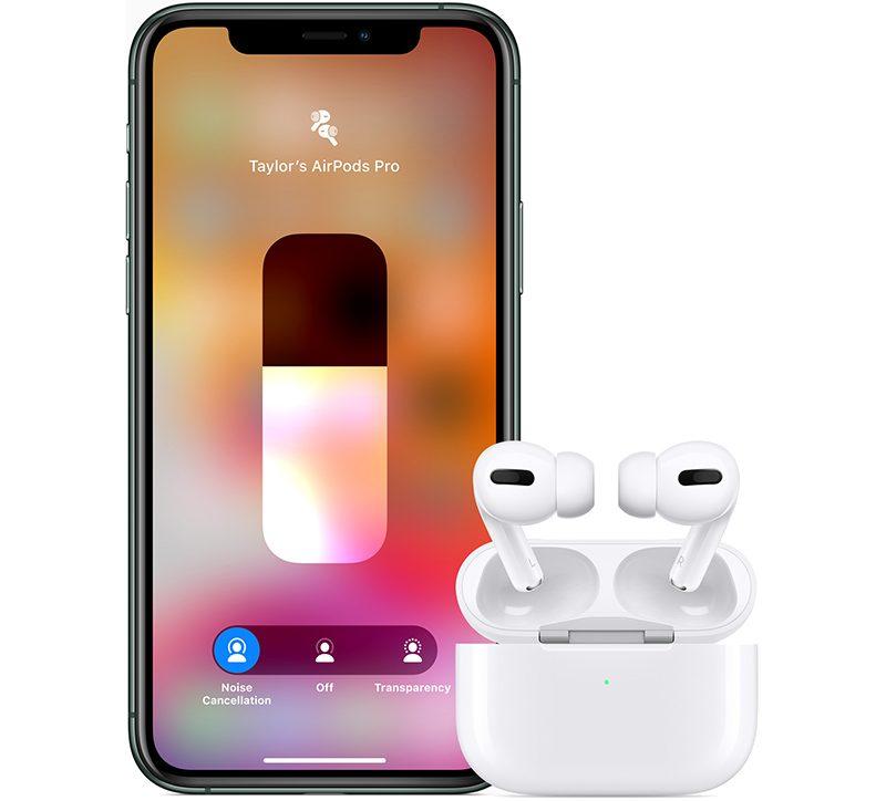 Setul de căști in-ear AirPods Pro proaspăt lansat de Apple la un preț de 249 USD.