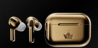 Airpods Pro Gold Edition de la Caviar