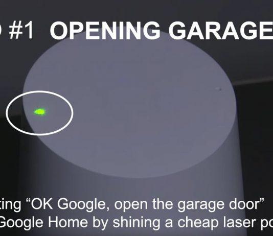 Google Home convins să deschidă ușa de la garaj în urma trimiterii unei raze laser.