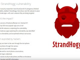 Vulnerabilitatea StrandHogg, existentă pe toate versiunile Android (chiar și pe cele actualizate cu patch-urile de noiembrie 2019) permite atacatorilor să fure datee personale ale utilizatorilor.