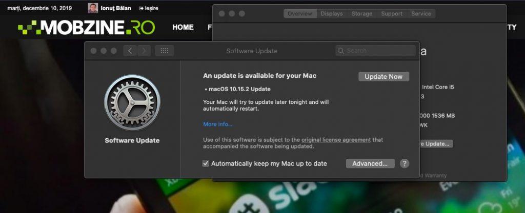 În aproape 3GB update-ul macOS 10.15.2 aduce patch-uri de securitate și update-uri minore aplicațiilor Apple.
