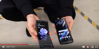 """Cum arată Motorola Razr și Samsung Galaxy Z Flip după ce sunt """"scăpate"""" pe jos de mai multe ori."""