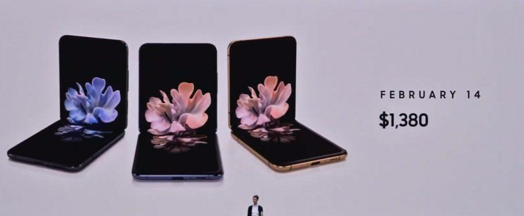 Noul Samsung Galaxy Z Flip e oficial: al doilea smartphone pliabil al Samsung, disponibil din 14 februarie.