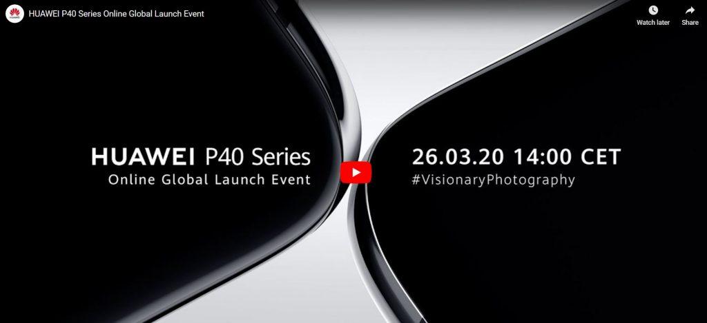 Lansarea Huawei P40 poate fi urmărită astăzi de la ora 15:00 pe canalul de YouTube al Huawei.