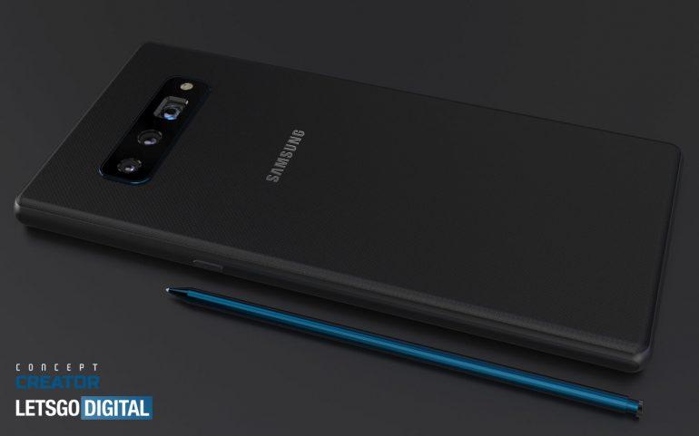 O simulare cu aspectul viitorului Samsung Galaxy Note20 ce va fi probabil lansat abia în vară de către coreeni.