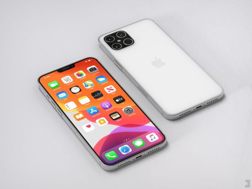 Concept de design pentru iPhone 12, realizat pe baza schițelor ajunse pe net.