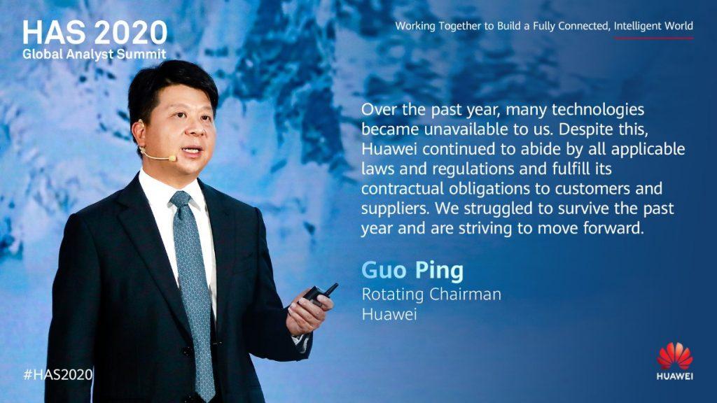 În cadrul Huawei Analyst Summit 2020, compania chineză a avertizat că acțiunile SUA vor avea impact asupra industriei mondiale.