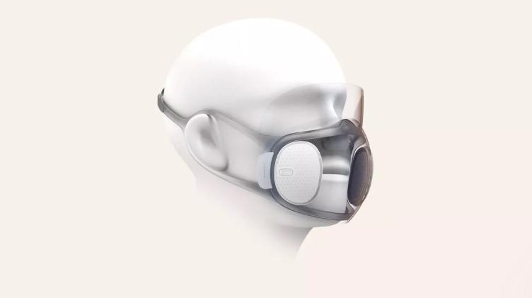 Conceptul măștii N95 Aeri, realizat de compania Huami, producătorii seriei de wearable Amazfit.