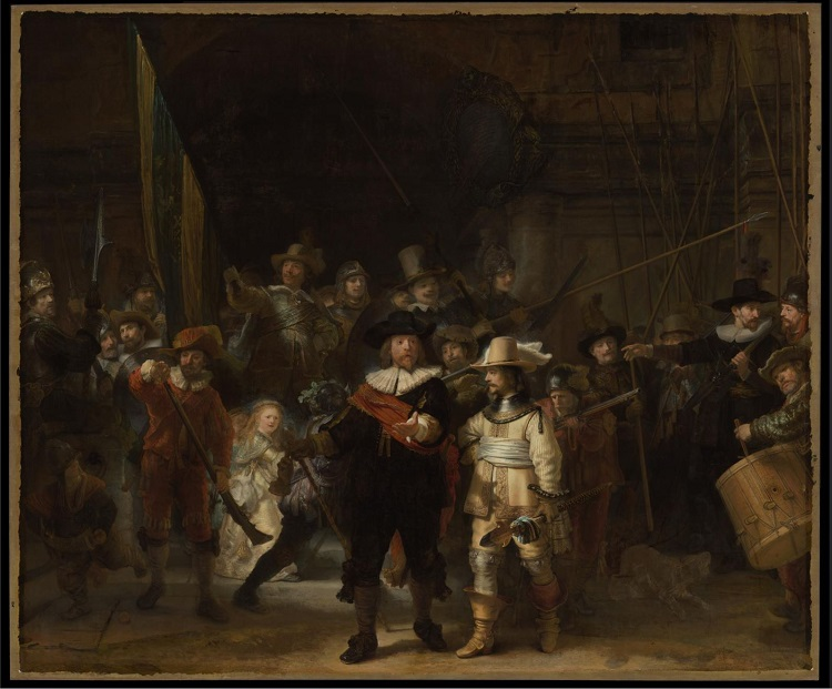 "Poza picturii ""Night Watch"" de la Rijksmuseum, disponibilă acum online la o super rezoluție: 44804687500 pixeli."