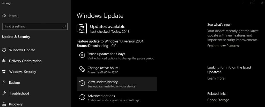În seara asta Microsoft a lansat pentru publicul larg Windows 10 May 2020 Update (version 2004).