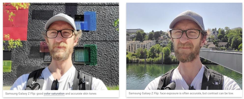 Camera selfie de pe Samsung Galaxy Z Flip este mai degrabă una modestă, conform testului DxOMark.