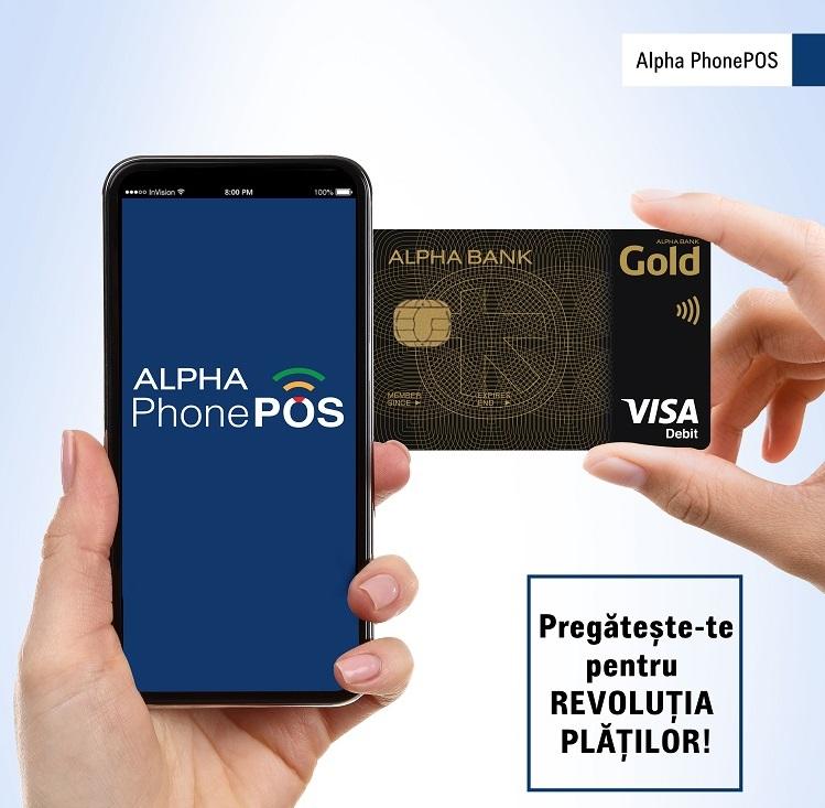 Alpha PhonePOS oferă antreprenorilor şi liber profesioniştilor servicii rapide şi sigure de acceptare a plăţilor contactless.