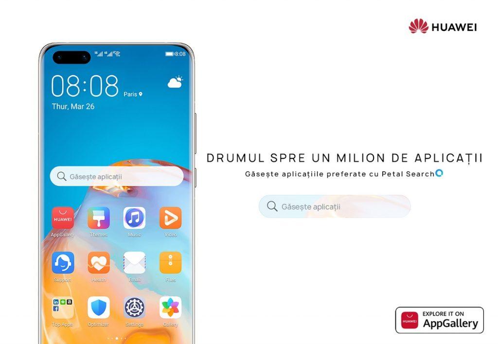 Huawei Consumer Business Group anunță disponibilitatea aplicației Petal Search, care vine preinstalată pe Seria Huawei P40 și este deja disponibilă pentru instalare în Huawei AppGallery.