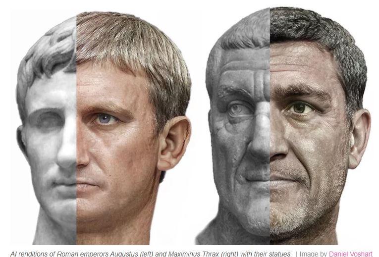 Cum a reusit un designer sa foloseasca AI-ul si Photoshop-ul ca sa refaca portretele unor imparati romani
