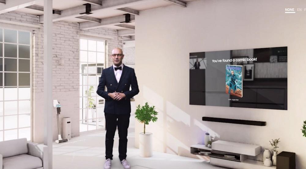 Samsung Europe's Chief Marketing Officer Benjamin Braun, vorbind din casa inteligentă Samsung la evenimentul virtual Life Unstoppable unde a fost prezentată gama de produse 2020.