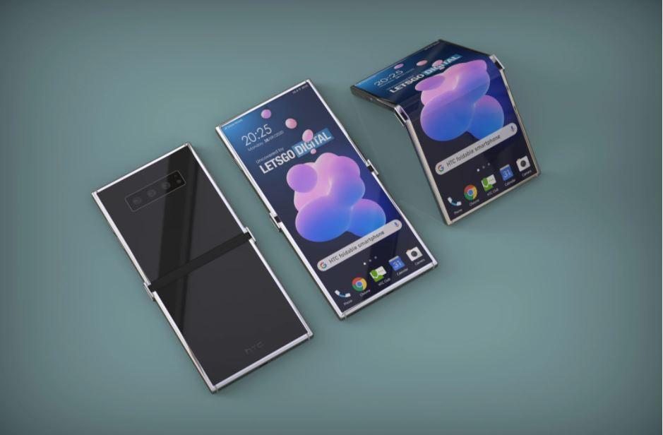 Un prototip al smartphone-ului pliabil HTC - modul de pliere este opus modelelor tradiționale.