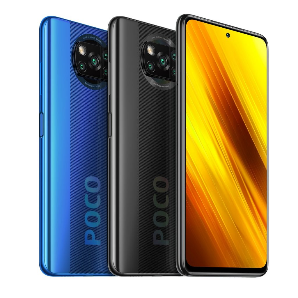 Poco X3 (NFC) prezentat în trei variante de culoare, vine cu un display de 6.67 inci (2400 x 1080 pixeli) și o rată de refresh de 120 Hz, la un preț de 229 EUR.