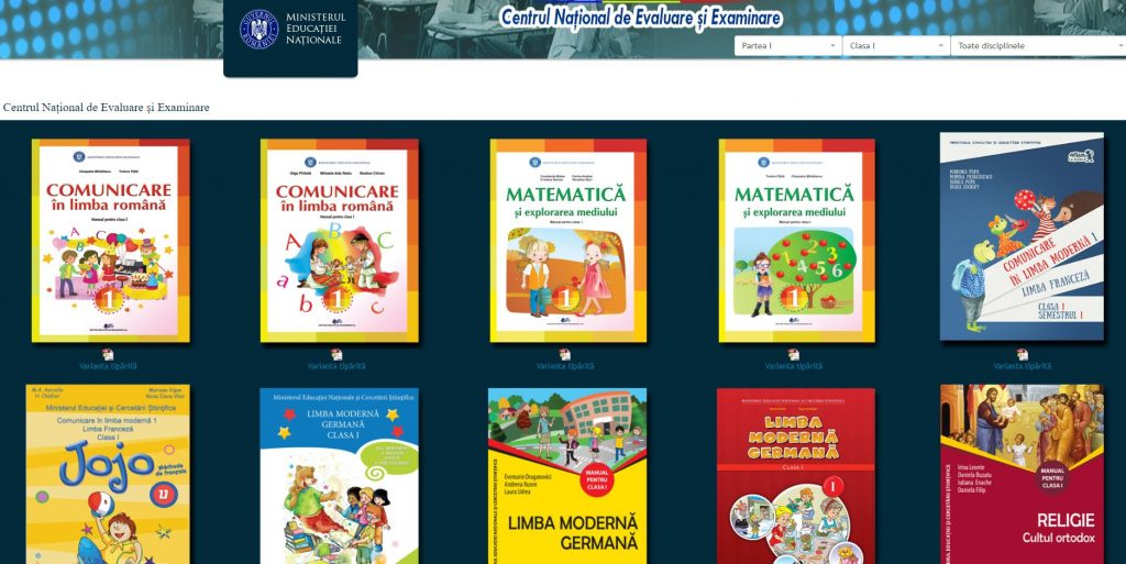 Ministerul Educației Naționale a publicat în format electronic (PDF) manualele pentru clasele 0-XIII și oricine le poate descărca pentru a le folosi offline.