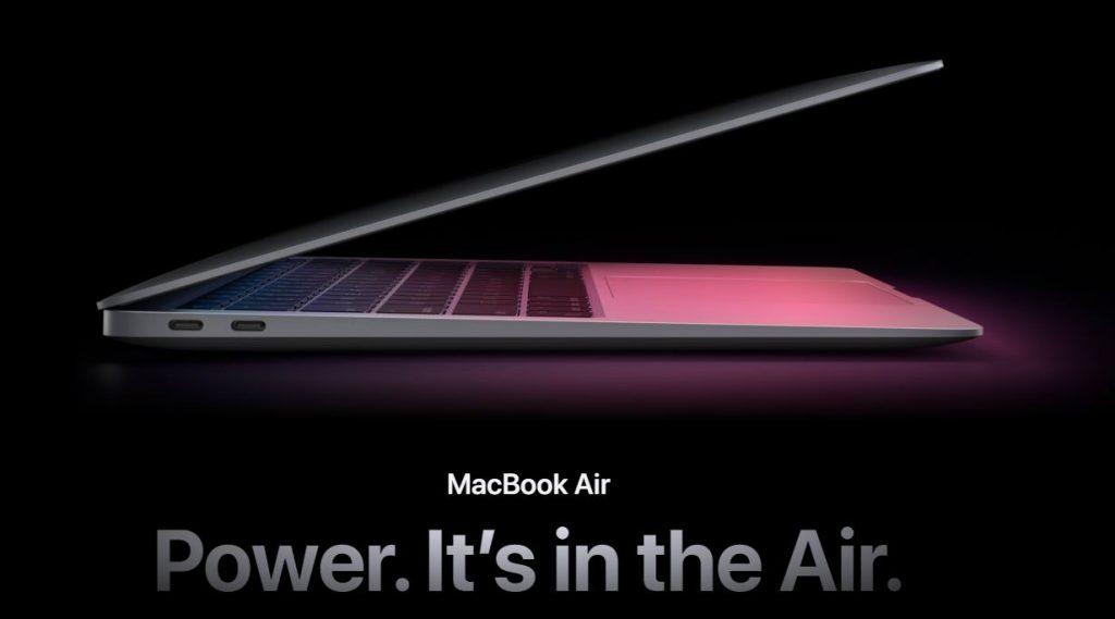 Apple a prezentat noile sisteme MacBook construite pe platforma Silicon M1 (system on a chip) cu 8GB RAM și prețuri de la 999 USD.