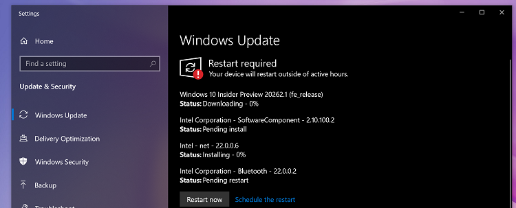 Microsoft a lansat Windows 10 Build 20262 for Insiders in Dev Channel.